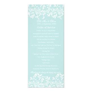 The Sarah Jane light blue & white Order of Service Card