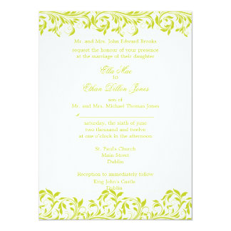 The Sarah Jane Lime and white wedding invitation