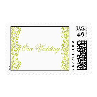 The Sarah Jane lime green & white wedding Postage
