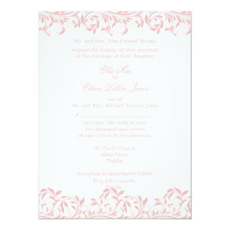 The Sarah Jane pink and white wedding invitation