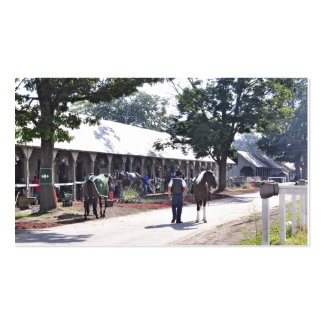 The Saratoga backstretch on opening day Business Card