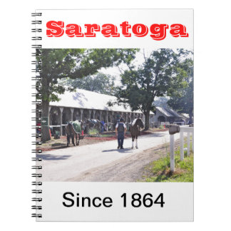 The Saratoga backstretch on opening day Notebook