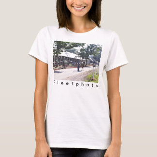 The Saratoga backstretch on opening day T-Shirt
