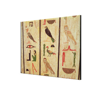 The sarcophagus of Psamtik I (664-610 BC) detail o Canvas Print
