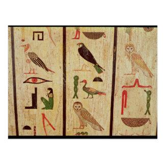 The sarcophagus of Psamtik I (664-610 BC) detail o Postcard