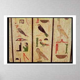 The sarcophagus of Psamtik I (664-610 BC) detail o Poster