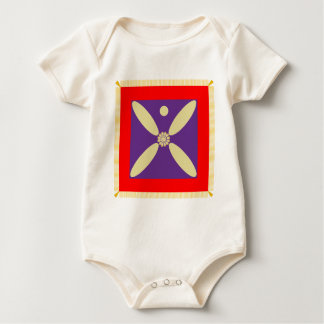 The Sassanid Persian Empire Flag Baby Bodysuits