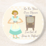 The Sassy Video Gamer 50's Housewife Drink Coaster