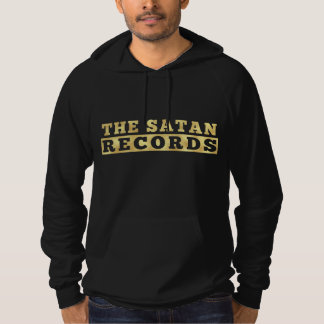 The Satan Records Hooded 1 Black & Gold Hoodie
