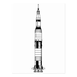 The Saturn V Rocket Postcard