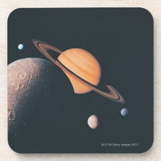 The Saturnian System Beverage Coaster