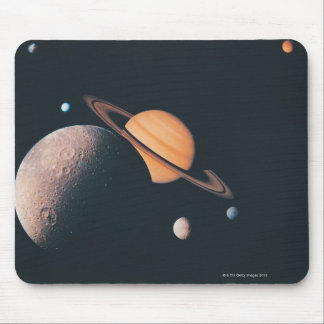 The Saturnian System Mouse Pad