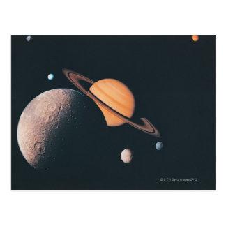 The Saturnian System Postcard