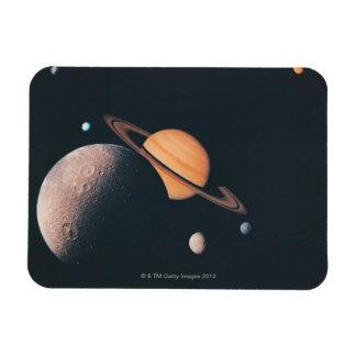 The Saturnian System Rectangular Photo Magnet