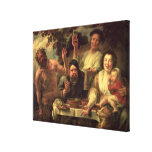 The Satyr and the Peasants Canvas Print