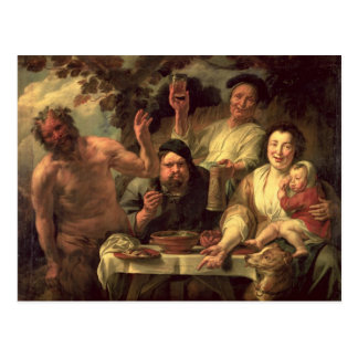 The Satyr and the Peasants Postcard