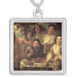 The Satyr and the Peasants Square Pendant Necklace