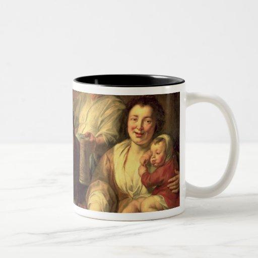 The Satyr and the Peasants Two-Tone Coffee Mug