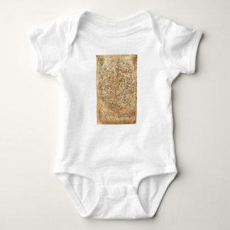 The Sawley Map Imago Mundi Honorius Augustodunensi Baby Bodysuit