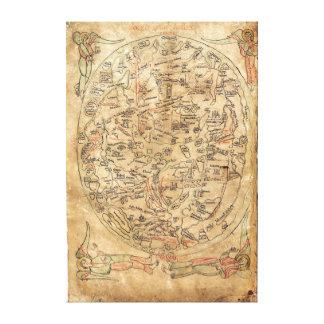 The Sawley Map Imago Mundi Honorius Augustodunensi Canvas Print
