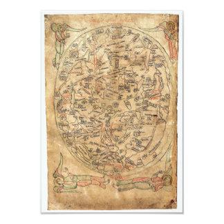 The Sawley Map Imago Mundi Honorius Augustodunensi Card