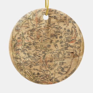 The Sawley Map Imago Mundi Honorius Augustodunensi Ceramic Ornament