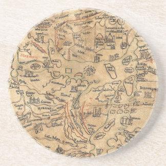 The Sawley Map Imago Mundi Honorius Augustodunensi Coaster