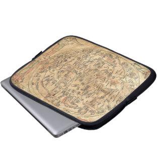 The Sawley Map Imago Mundi Honorius Augustodunensi Laptop Sleeve