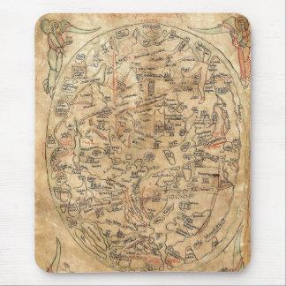 The Sawley Map Imago Mundi Honorius Augustodunensi Mouse Pad
