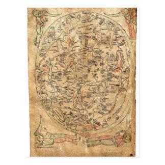The Sawley Map Imago Mundi Honorius Augustodunensi Postcard