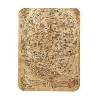 The Sawley Map Imago Mundi Honorius Augustodunensi Rectangular Photo Magnet