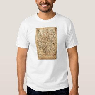 The Sawley Map Imago Mundi Honorius Augustodunensi Tee Shirt