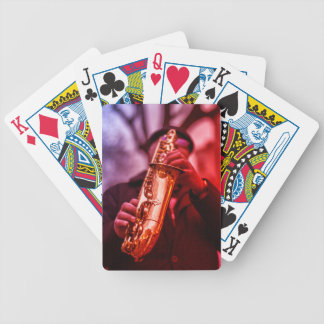The Sax Man Bicycle Poker Playing Cards