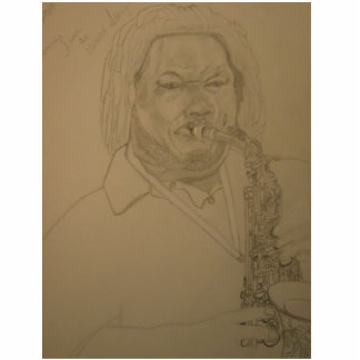 The Saxologist Acrylic Cut Out