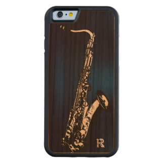 The Saxophone/Personalized Carved® Cherry iPhone 6 Bumper