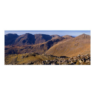The Scafells and Bow Fell - Poster
