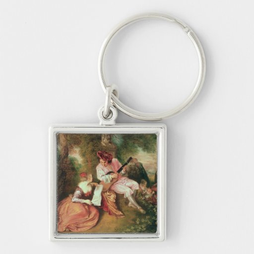 The Scale of Love, 1715-18 Keychain