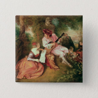 The Scale of Love, 1715-18 Pinback Button