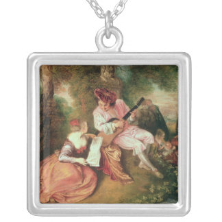 The Scale of Love, 1715-18 Silver Plated Necklace