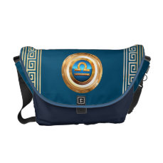 The Scales Zodiac Sign Courier Bag