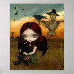 The Scarecrow gothic fairy cat halloween Art Print
