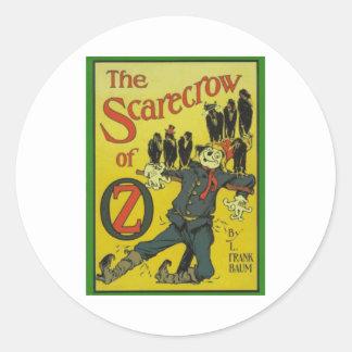 The Scarecrow Of Oz Classic Round Sticker