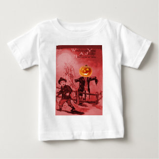 The Scarecrow (Vintage Halloween Card) Baby T-Shirt
