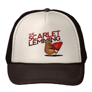 The Scarlet Lemming (with title) hat