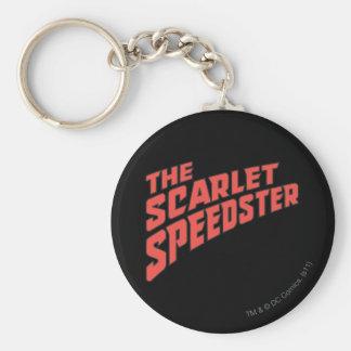 The Scarlet Speedster Logo Basic Round Button Keychain