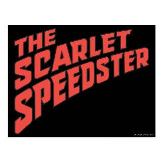 The Scarlet Speedster Logo Postcard