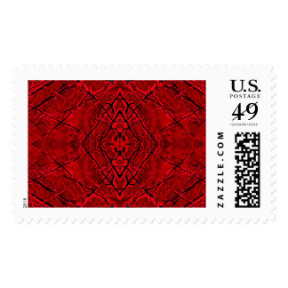 THE SCARLETT WEB (abstract art) ~.jpg Postage