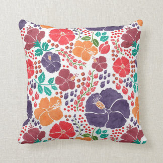 The Scattered Flowers in the Garden Throw Pillows