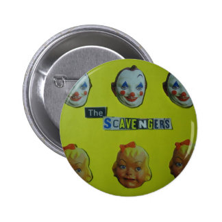The scavengers  happy face pin