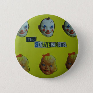 The scavengers  happy face pinback button